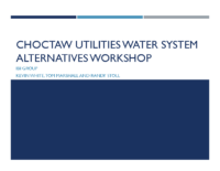 Choctaw Utilities Water System Analysis Findings Workshop